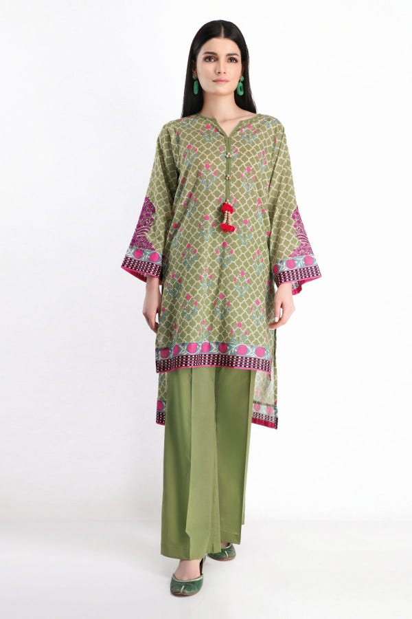 Embroidered Kameez Pants