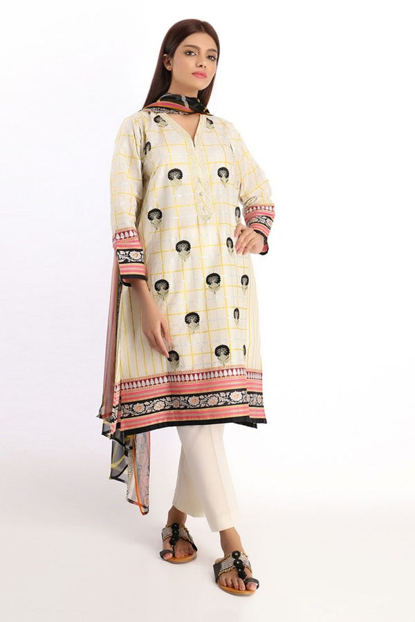Embroiered Kurta with Dupatta