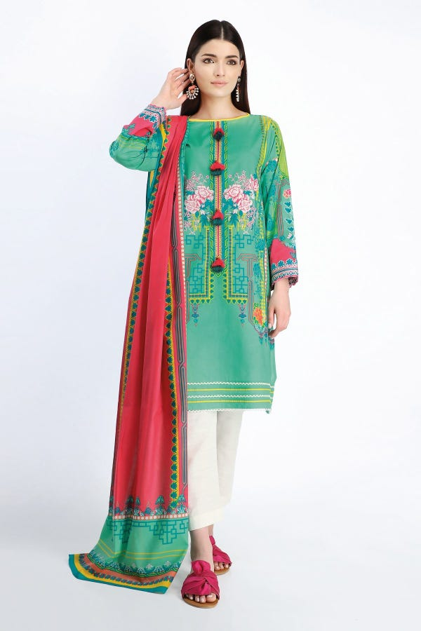 Embroidered Kameez Dupatta
